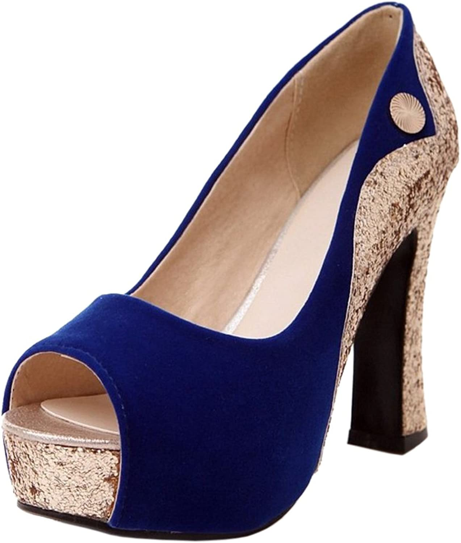 TAOFFEN Women Peep Toe Heels shoes