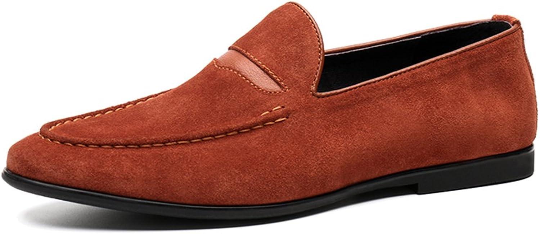 Springaa herrar Nubuck Frosted Matte läder skor Lounger Casual Casual Casual skor British Style Casual Tide skor  fabriksförsäljningar
