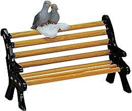 2007 Metal Bench w/Birds Christmas Village Figurine