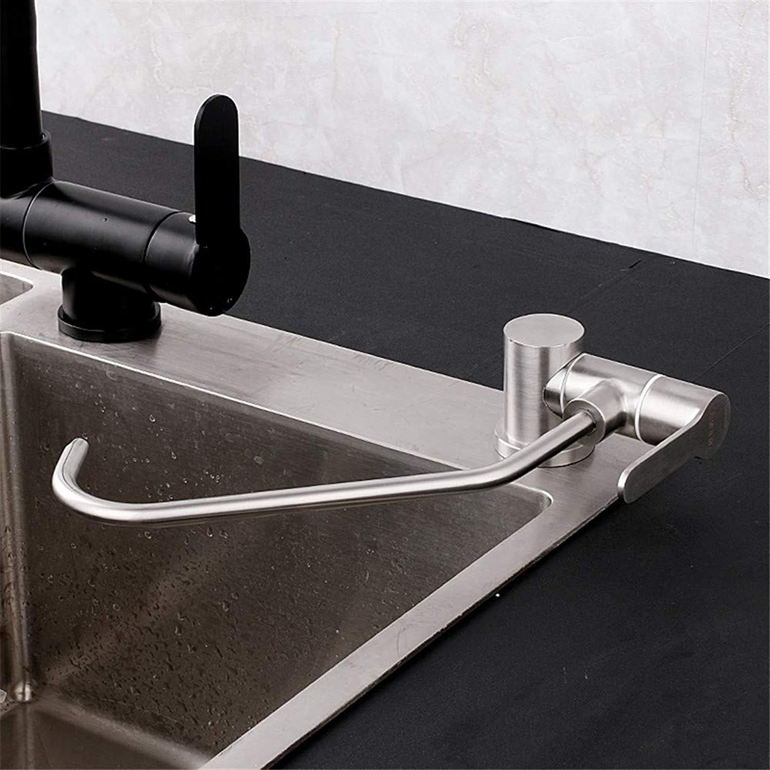 Kitchen Faucet, 304 Stainless Steel Kitchen Single Cold Straight Drinking Water Faucet, Foldable Faucet,A