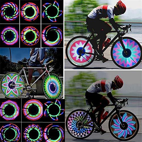 Fahrrad Rad Lichter Wasserdichte 32-teilige LED-Fahrradfelgenleuchten Mit Lichtsensor Und Bewegungssensor Fahrrad-Speichenlichter