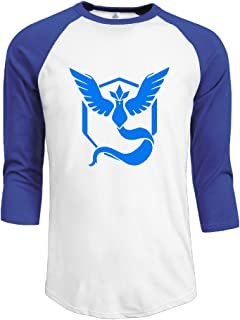 mrng Hombres de Pokemon Go 3/4Manga béisbol camiseta
