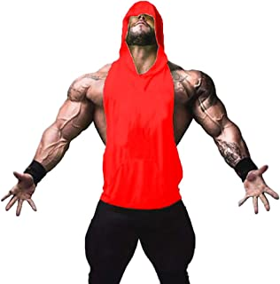 ZUEVI سترات بدون أكمام العضلات للرجال لرياضة كمال الاجسام سترات بدون أكمام