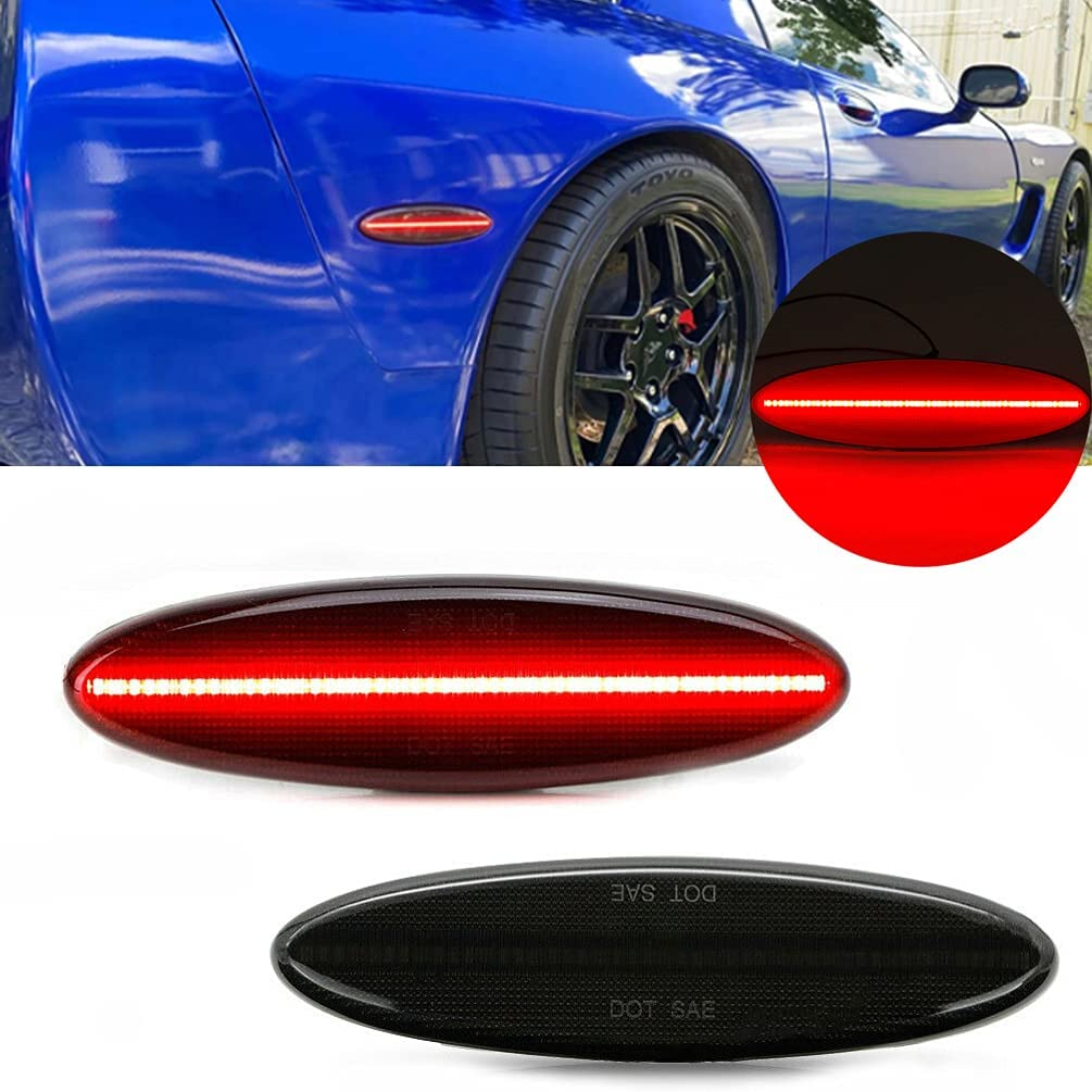 Dunxunn Smoked Lens C5 Side Marker Pa Fender Red LED New Cheap super special price item Rear Lights