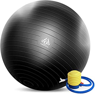 Forbidden Road Exercise Yoga Ball (4 Size,  4 Colors) 200 lbs Slip-Resistant Yoga Balance Stability Swiss Ball