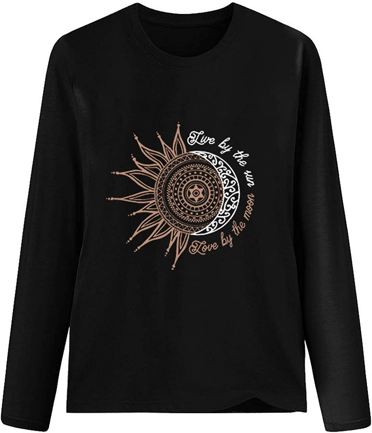 Graphic Long Sleeve Large special price Tops for Many popular brands Women Print Casual Loose Fit Shirts