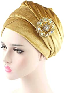 8bc1e309faeaed New Luxury Hijab Velvet Turban Head Wrap Extra Long Velour Tube Turban Tie  Shawl Scarf with