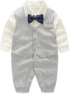 7f39d7b82 Fairy Baby Baby Boy Gentleman Outfit Formal Onesie Tuxedo Dress Suit