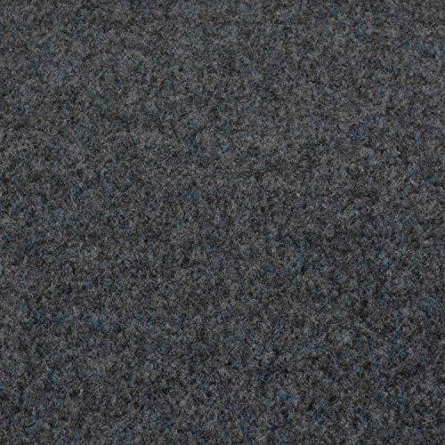 Kunstrasen Fertigrasen in 3 Farbig mit Drainagenoppen (160 cm x 200 cm, Grijs 901 (Grau))