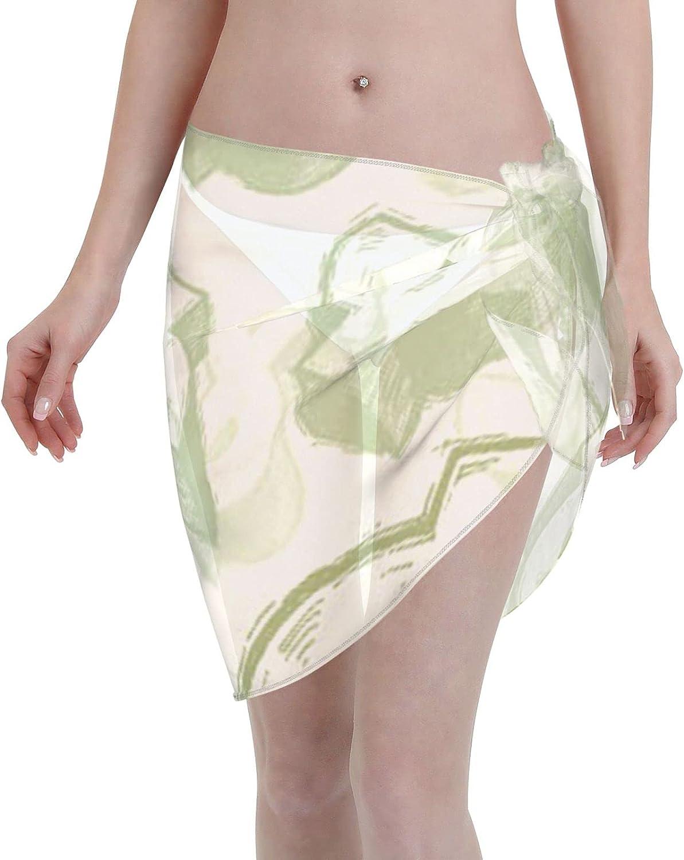 Women Short Sarongs Beach Wrap,Beach Wrap Sheer Bikini Wraps Chiffon Cover UpsDollar Signs Beach Wrap Sheer Bikini Wraps Chiffon Cover Ups