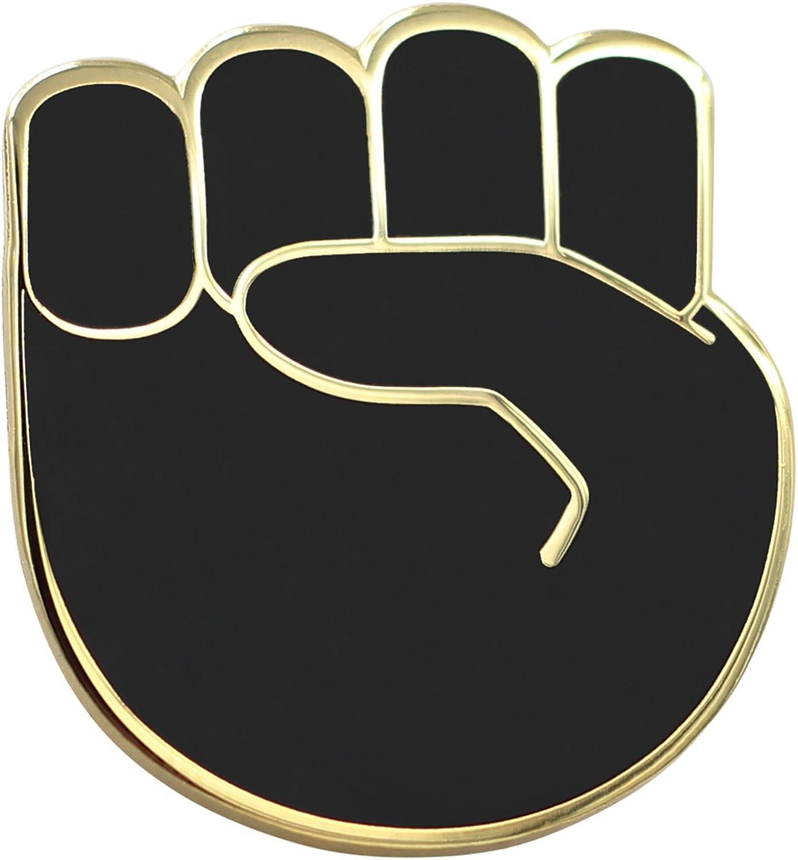 Real Sic Raised Atlanta Mall Fist Enamel Pin Lives SEAL limited product Black - Matter Lapel