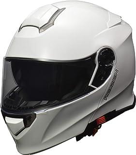 リード工業(LEAD) バイク用 インナーシールド付き システムヘルメット REISEN (レイゼン) ホワイト LLサイズ (61-62cm未満)