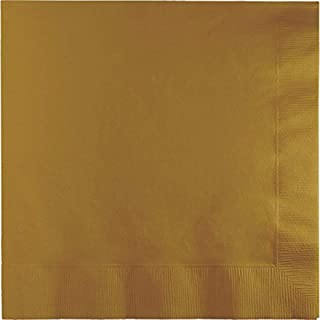 Creative Converting Touch of Colour 2-Ply Paper Lunch Napkins 50-Pack, Glittering Gold
