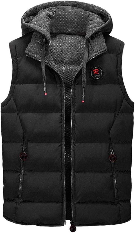 NREALY Men Casual Winter Warm Zipper Sleeveless Vest Jacket Coat Outwear