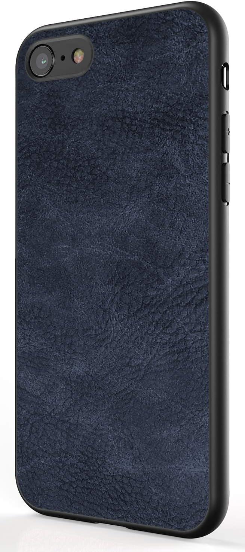 Salawat for iPhone SE 2020 Case Slim PU Leather Vintage Shockproof SE 2nd Phone Case Cover Lightweight Soft TPU Bumper Hard PC Hybrid Protective Case for iPhone SE 2020 4.7 inch (Blue)