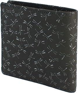 INDEN-YA 印傳屋 印伝 財布 二つ折り財布 メンズ 男性用 黒×黒 とんぼ 2009-01-008