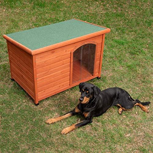 Torúl Woody Caseta de Madera Puerta para Perros L: 115 x 76 x 80 cm (An x P x Al)