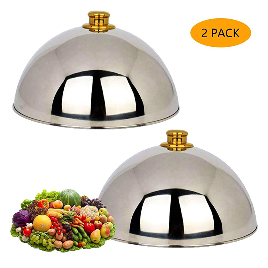 Stainless Steel Cheese Melting Dome and Steaming Cover Wok Cove Round Basting Cover Polished Steak Cover Cloche Serving Dish Food Cover Signature Griddle Accessories