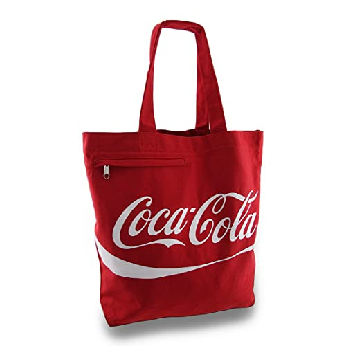 97a52b5a46f1 Red and White Coca-Cola Logo Canvas Tote Bag