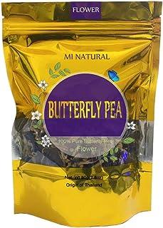 Butterfly Pea Flowers Tea, MI NATURAL Dried Flower Blue Tea, 80g Organic Thai Herbal