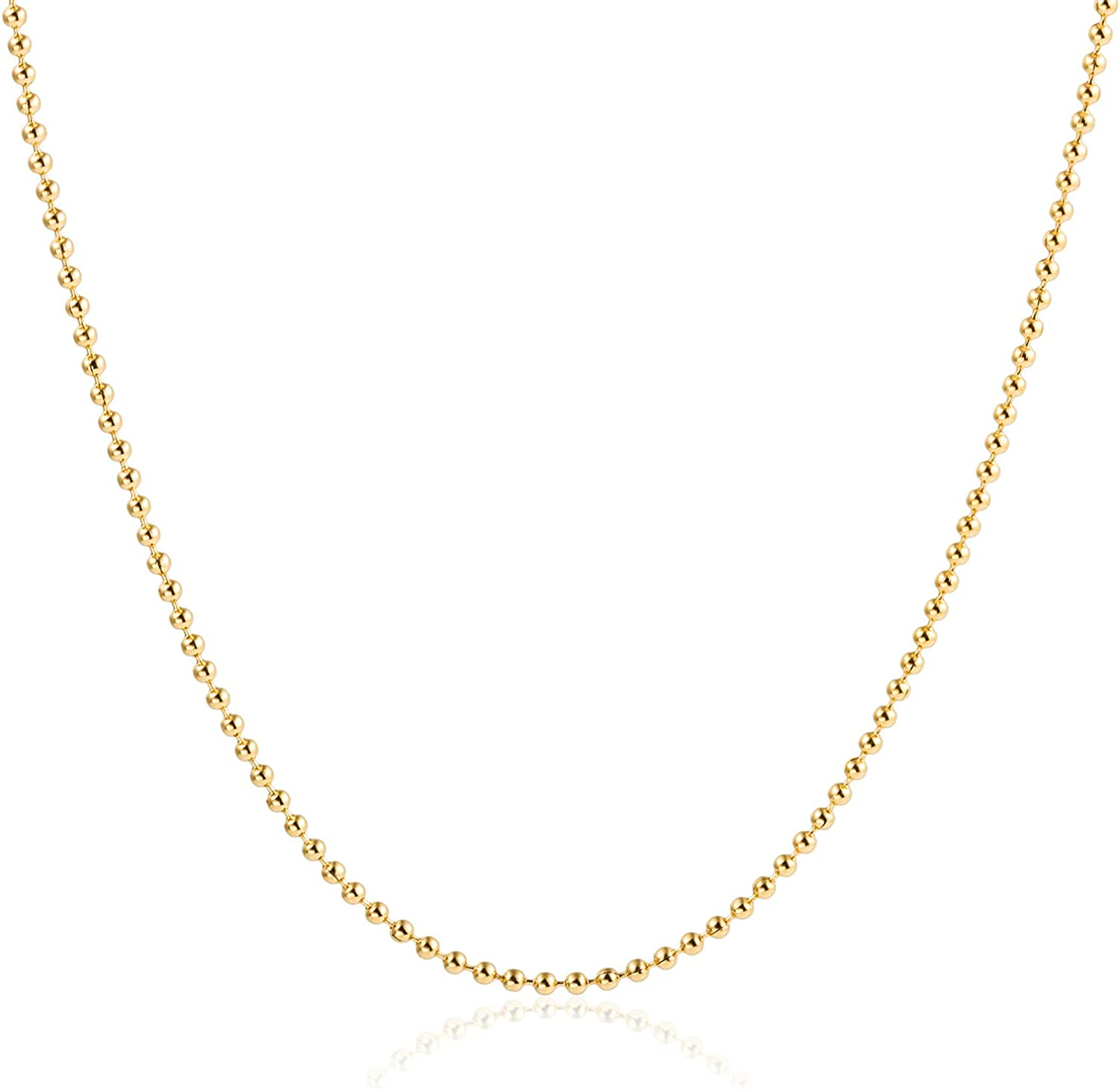 HAWSON 18K Gold Rope Chain Necklaces, 1.5-2mm Stainless Steel Link Chain, Diamond-Cut Braided Twist Link, Stacking Necklaces for Women, Tiny Girls Collars, Strand Choker 16