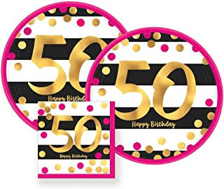 pink and gold 50th birthday