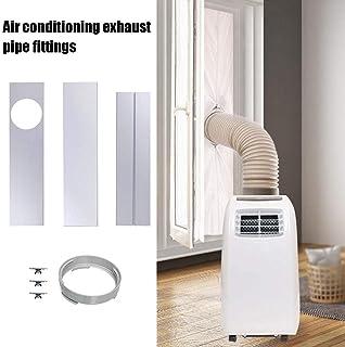 Juego de accesorios de ventana para manguera de escape de aire, juego de ventanas ajustables de 3 piezas Placas 45-120cm + 1 adaptador de ventana de 15 cm para portátil con aire acondicionado móvil