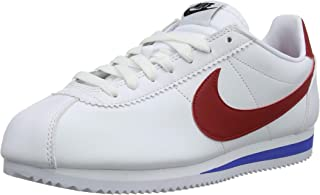 Nike Women's WMNS Classic Cortez Leather, White/Varsity RED