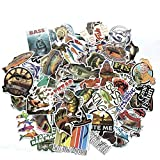 LZWNB Set Go Fishing Diferentes Patrones Graffiti Pegatinas Impermeables Set 65 Pcs