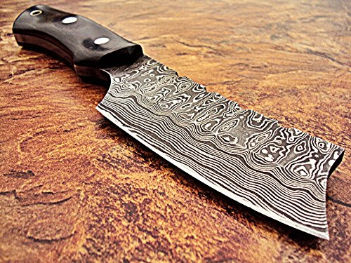Poshland Custom Handmade Full Tang Damascus Steel Skinner Knife