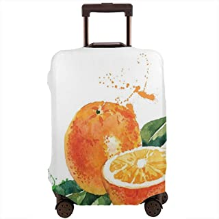 Travel Luggage Cover,Watercolor Stylized Orange Sweet Yummy Kitchen Natural Organic Winter Motif Suitcase Protector