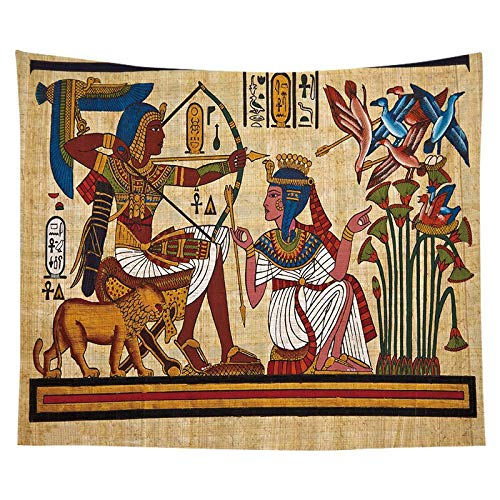 PPOU Estilo Egipcio Tapiz Colorido Colgante de Pared Mandala Faraón Colcha Lanzamiento Hippie Cubierta Arte Fondo Decoración de Pared A15 130x150cm