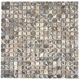 Piastrelle a mosaico in marmo naturale beige Castanao per pavimenti, pareti, bagno, doccia, cucina, specchio, rivestimento, vasca da bagno, mosaico
