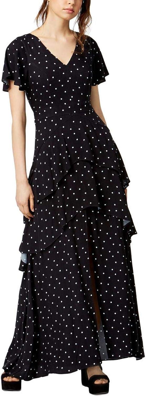 Bar III Womens Polka Dot Party Maxi Dress