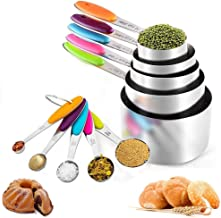 CHEFLY Measuring Cups and Spoons Set M1901-02 10PCS-Colorful Silver&Colorful