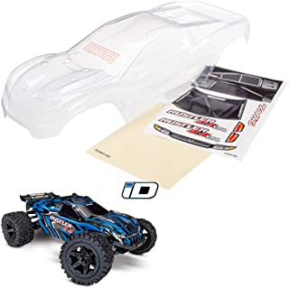 Traxxas TRA6717 Body, Rustler 4X4 (Clear, Requires Painting)/ Window, Grill, Lights Decal Sheet