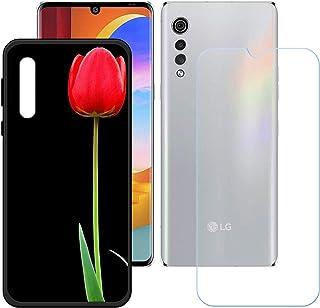 LMLQSZ Fodral för LG Velvet 2 Pro + HD pansarglas, mjukt mobiltelefonskal silikon skyddsskal Cover TPU Case mobiltelefon v...