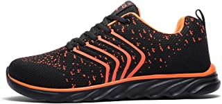 Ahico Running Shoes Men Air Cushion Mens Tennis Shoe Lightweight Fashion Walking Sneakers Breathable Athletic Training Sport Orange Size: 8.5 Women/7 Men
