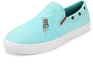 aogula Women Canvas Fashion Sneakers Low Top Lightweight Slip on Skate Shoes Cute Classic Casual Flat Walking Shoes