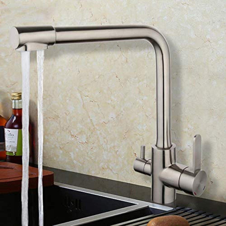 Küchenmischer Wasserfilter Küchenarmatur Wassermischer Spülbecken Wasserhahn Edelstahl Kranhhne Küchenwasserhahn