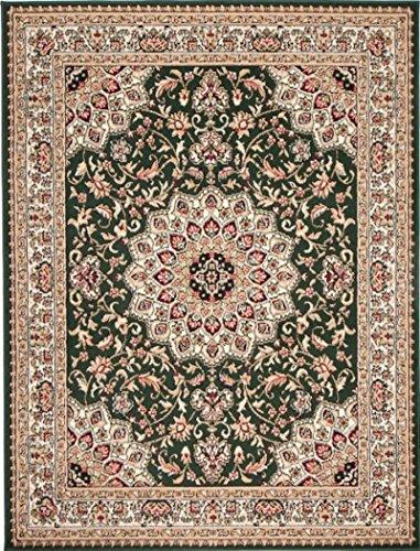 Alfombra 250 x 350 cm XL Grandes Verde Oriental Decoración Diseño/Carpeto Colección Verona