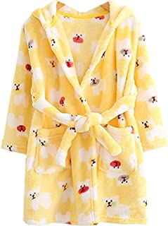 Jiyaru Girls Pajamas Dress Childrens Flannel Sleepingwear Nightgown