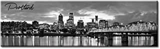 DJSYLIFE-Portland Picture Canvas Print - Modern City Wall Art Framed Artwork for Office Living Room Wall Decoration,Ready to Hang 13.8
