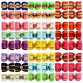 YOY 48PCS / 24 Pairs Adorable Grosgrain Ribbon Pet Dog Hair Bows with Rubber Bands - Puppy Topknot Cat Kitty Doggy Grooming Hair Accessories Bow Knots Headdress Flowers Set for Groomer
