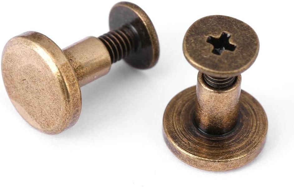 Fydun Flachkopfnieten /& Schrauben Bronze 5mm 20 St/ück Flachkopf Kupfer Messing Schrauben Muttern N/ägel Nieten Lederkappe Zubeh/ör DIY Lederhandwerk