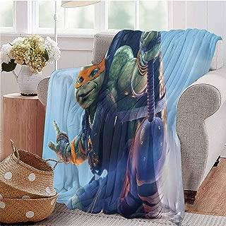 HouseDecor Soft Blankets Teenage Mutant Ninja Turtles Comfortable and Warm Beach Blanket 70X60 Inch