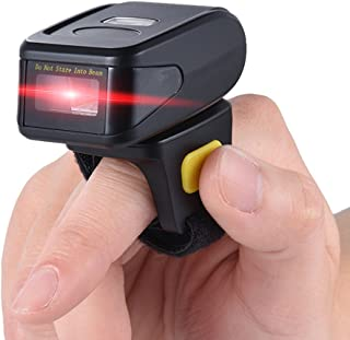 Portable Handheld Bluetooth Wireless Ring Finger 1D Barcode Scanner Reader Support for windows XP 7.0 8.0 10 system for IO...