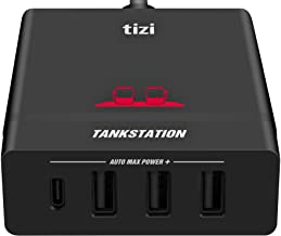 equinux Tizi Tankstation USB-C + 3 USB-A (75W) with up to 60W USB-C PD - 4 Port Charger with Power Delivery.(1 USB-C Port and 3 USB-A Ports). Compatible with Apple MacBook, iPhone and iPad.