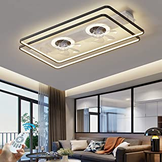 LED Ventilateur De Plafond Avec Lampe Moderne Dimmable 98W Fan Plafonnier Nouveau Double Ventilateur Conception Gradable T...