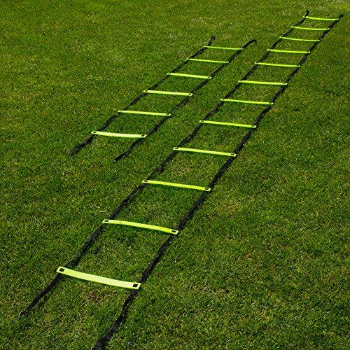 FORZA velocità Scala   Disponibile in 3m o 6m   Scaletta di Agilità Regolabile – [Net World Sports] (3m (6 Rungs))